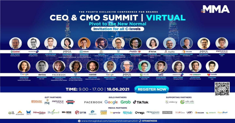 """CÁC CHUYÊN GIA ĐẦU NGÀNH HỘI TỤ TẠI """"CEO & CMO SUMMIT 2021"""""""