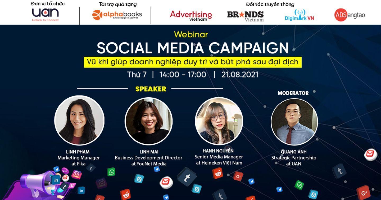 Mời tham dự miễn phí [PERFORMANCE MARKETING WEBINAR] Social Media Campaign - Vũ khí giúp doanh nghiệp duy trì và bứt phá sau đại dịch