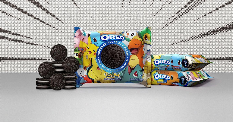 """Kỷ niệm 25 năm thành lập, Pokémon hợp tác Oreo ra mắt cookie phiên bản """"trở về tuổi thơ"""""""