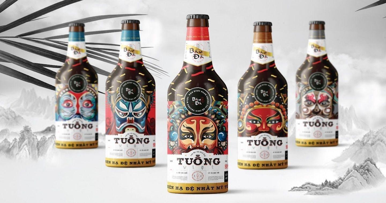 """Ấn tượng với thiết kế """"Rượu Bàu Đá"""" lấy cảm hứng từ nghệ thuật Tuồng Việt Nam"""