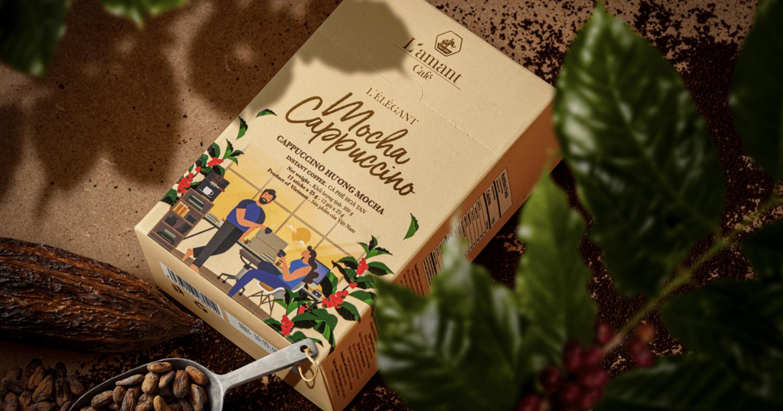 #Packaging: L'amant Café - Điểm nhấn thiết kế từ hành trình sản xuất cà phê hữu cơ