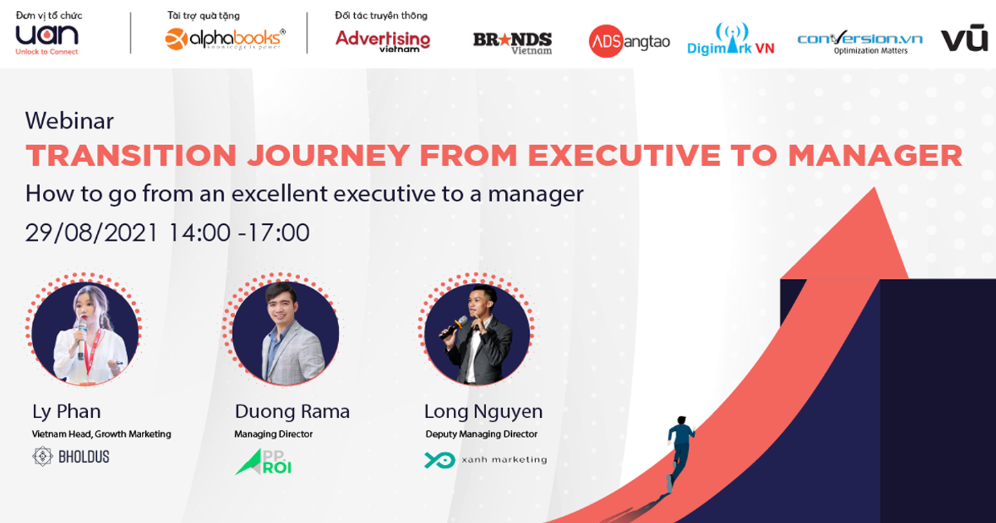 Mời tham dự webinar: Transition Journey from Executive to Manager