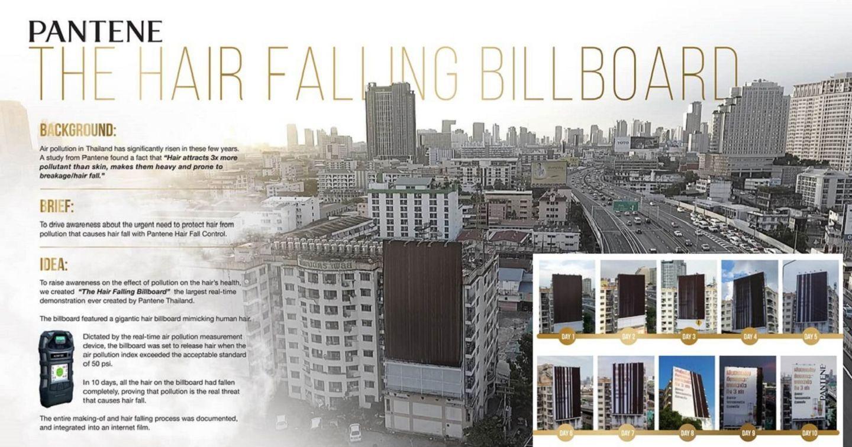 """Billboard """"rụng tóc"""" của Pantene báo động tình trạng ô nhiễm không khí của Thái Lan"""