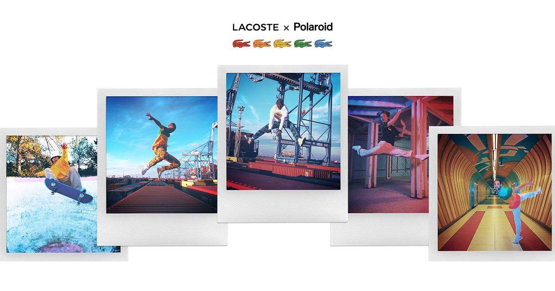 Lacoste X Polaroid: Hòa Sắc Những Dải Màu Retro