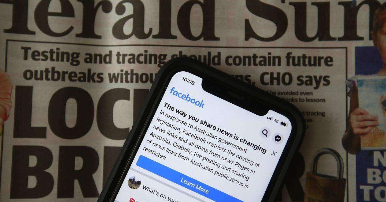 Facebook tại Úc bất ngờ chặn người dùng đọc và chia sẻ tin tức