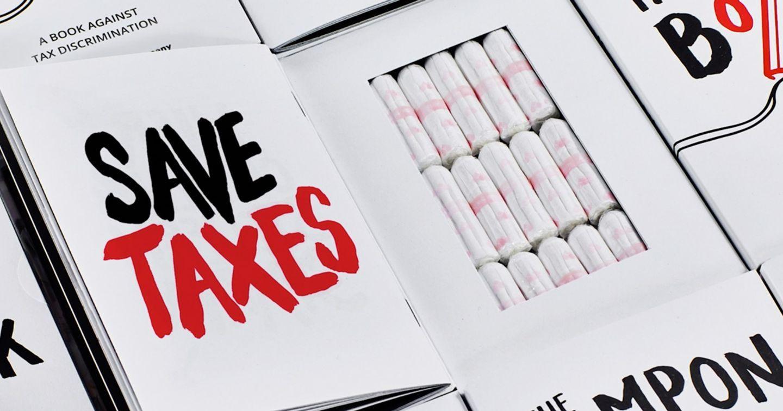 """""""Ngụy trang"""" băng vệ sinh trong quyển sách, The Tampon Book khiến chính phủ Đức giảm thuế mặt hàng"""