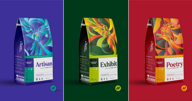 Bao bì Caribou's Coffee - Thiết kế nghệ thuật lấy cảm hứng từ loài vẹt có nguy cơ tuyệt chủng
