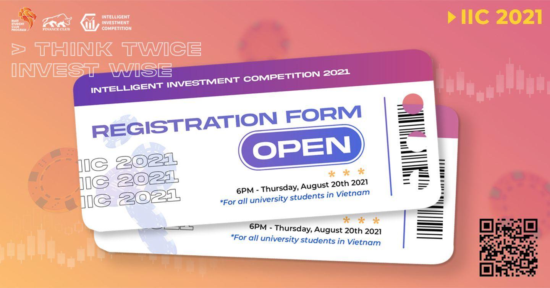 Chính thức mở đơn đăng kí tham dự Cuộc thi Intelligent Investment Competition 2021