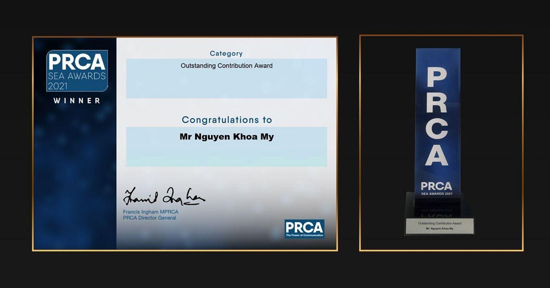 """VNPR nhận """"Giải thưởng Đóng Góp Nổi Bật"""" từ Hiệp hội quan hệ công chúng và Truyền thông thế giới – chi nhánh Đông Nam Á"""
