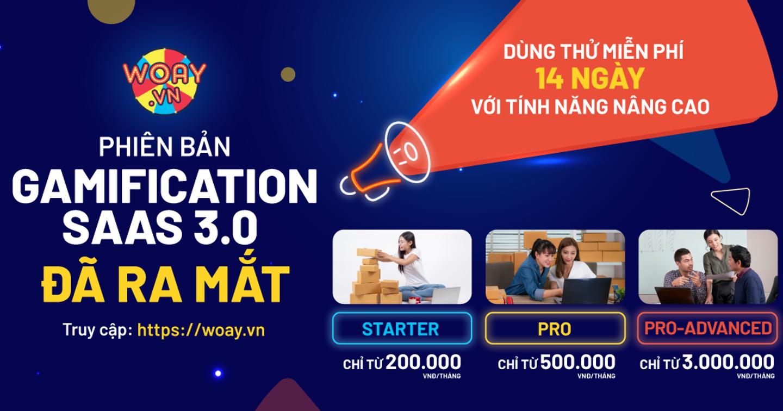 WOAY.vn ra mắt Gamification Marketing SAAS phiên bản 3.0, số hóa promotion chỉ trong 5 phút