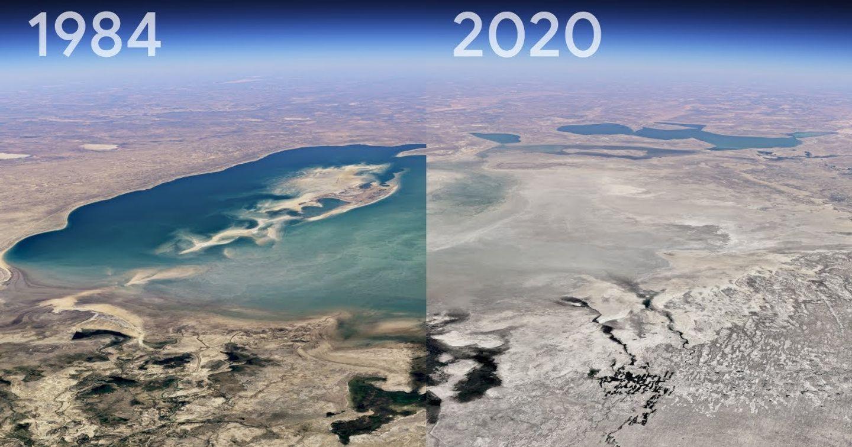 Tính năng Timelapse 4D của Google mô phỏng sự thay đổi của Trái Đất qua ba thập kỷ