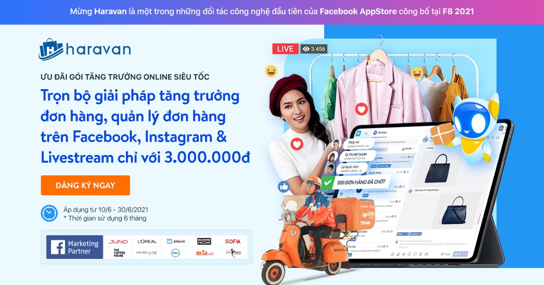 Harasocial giải pháp quản lý bán hàng toàn diện trên Facebook, Instagram và Livestream của Haravan chính thức ra mắt