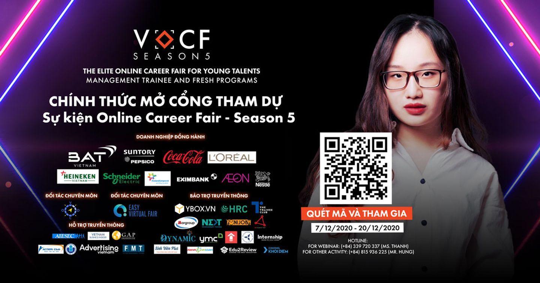 Chính Thức Mở Cổng Chính Hội VOCF Seson 5: THE ELITE ONLINE CAREER FAIR FOR YOUNG TALENTS