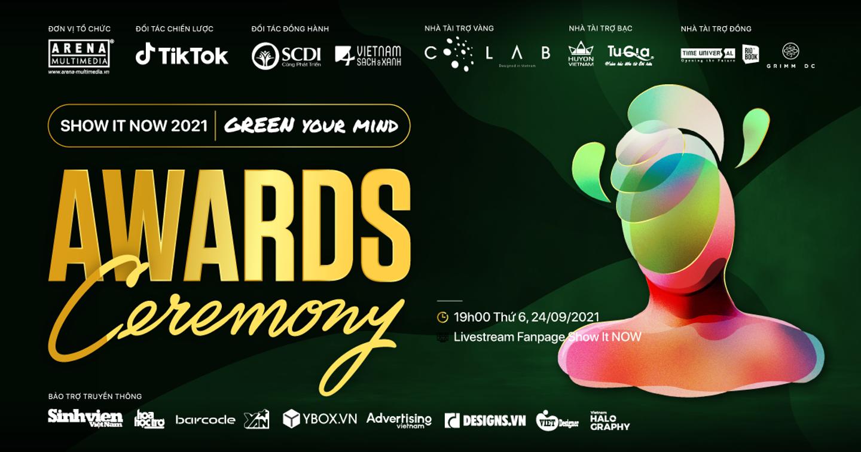 """Gala trao giải Show It NOW 2021: Đêm vinh danh các tài năng trẻ cùng dàn """"siêu sao"""" trong làng sáng tạo"""