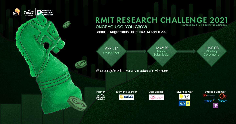 CHÍNH THỨC MỞ ĐƠN ĐĂNG KÝ RMIT RESEARCH CHALLENGE 2021