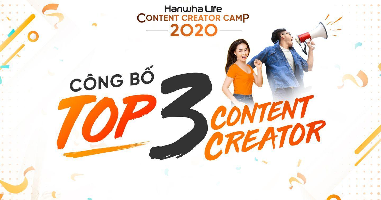 Công bố Top 3 cuộc thi Hanwha Life Content Creator Camp