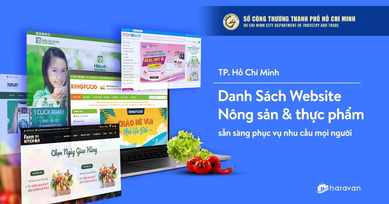 Haravan phối hợp cùng các đối tác tổng hợp danh sách 100 website thực phẩm hoạt động mùa giãn cách