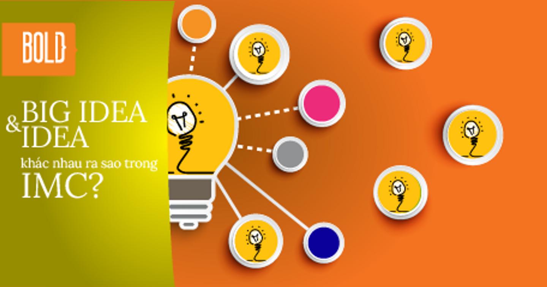 Big Idea Và Idea Trong IMC Khác Nhau Ra Sao