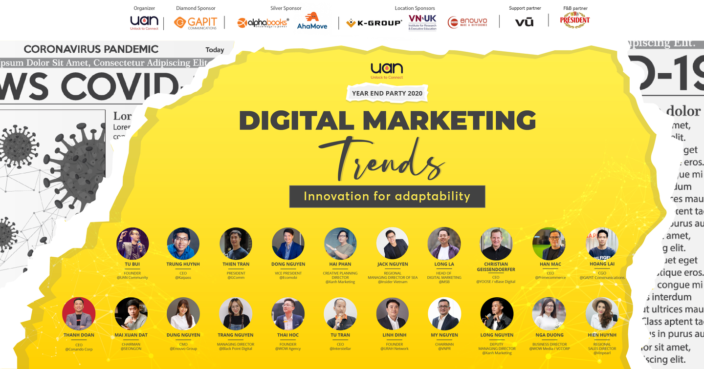 Sự kiện UAN YEAR END PARTY 2020 – DIGITAL MARKETING TRENDS