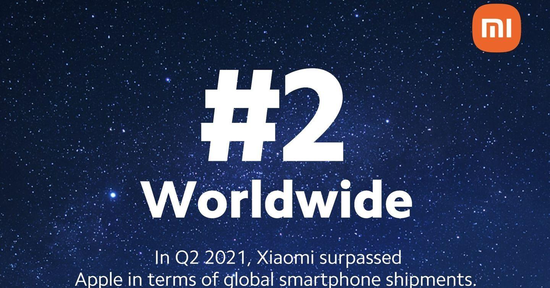 Xiaomi trở thành nhà sản xuất smartphone thứ 2 thế giới trong quý 2 năm 2021