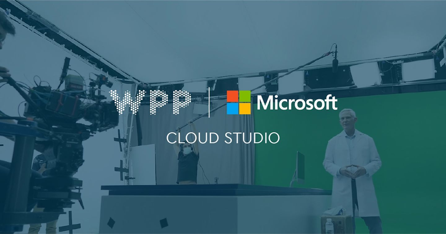 WPP and Microsoft to creatively transform content production through new Cloud Studio partnership