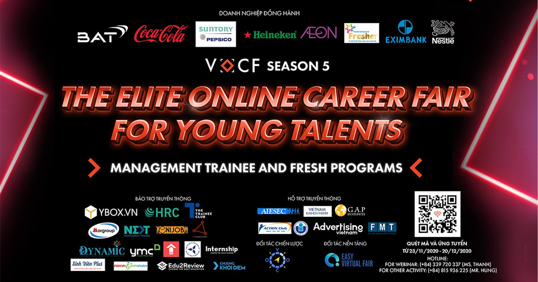 [Công Bố Chương Trình VOCF Season 5] The Elite Online Career Fair For Young Talents - Management Trainee & Fresh Programs