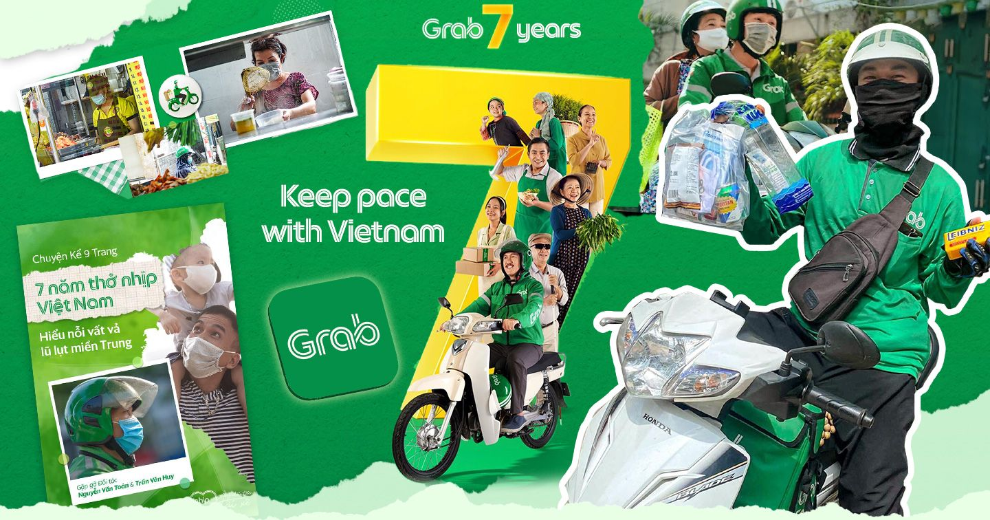 """Grab 7 years """"Keep pace with Vietnam"""" - Road to super app model starting from ordinary things"""