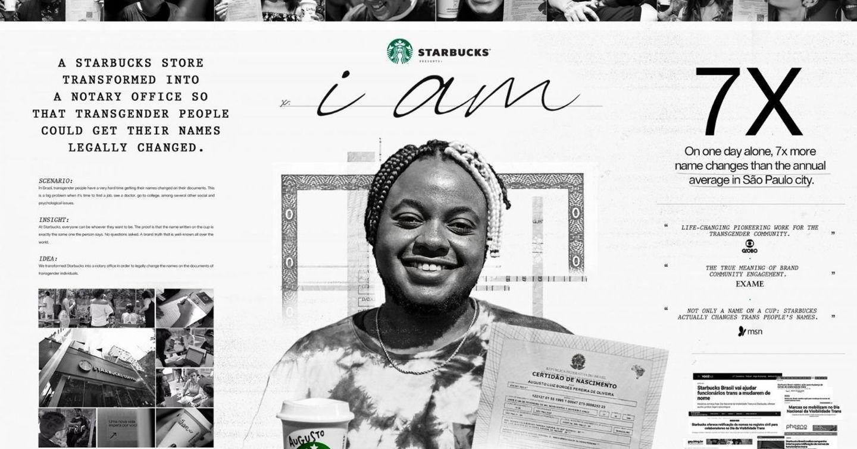 """Chiến dịch """"I Am"""" của Starbucks: Biến cửa hàng cafe thành nơi đổi tên cho người chuyển giới"""