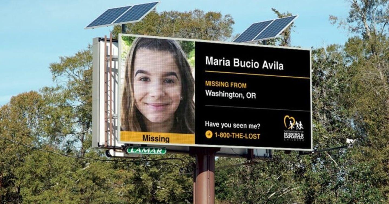 """Chiến dịch """"Runaway Train 25"""" hiển thị thông tin trẻ lạc trên những bảng quảng cáo ngoài trời"""
