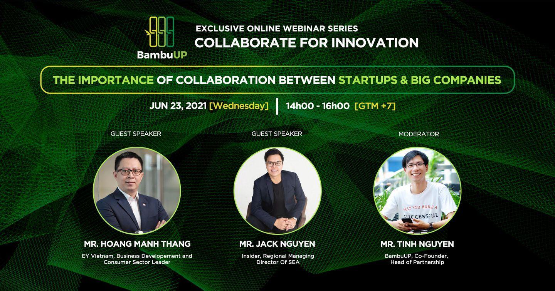 Online Webinar: Tầm quan trọng của việc hợp tác giữa Startup & Big Company
