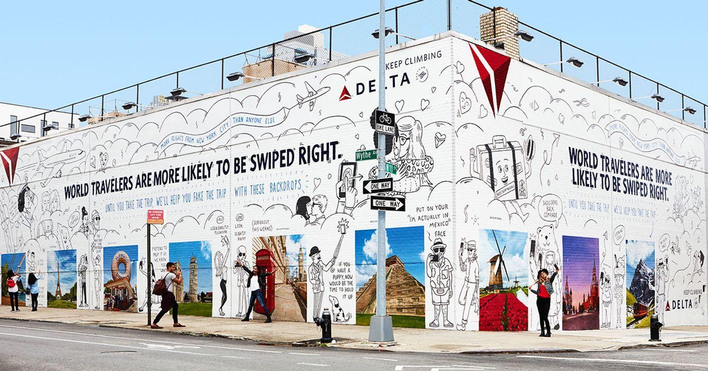 Delta AirLines thu hút khách du lịch với bức tường sống ảo tuyệt đẹp