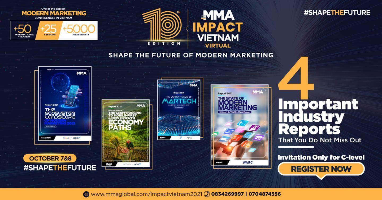 MMA Việt Nam sẽ công bố 4 báo cáo thị trường quan trọng tại MMA IMPACT VIETNAM 2021