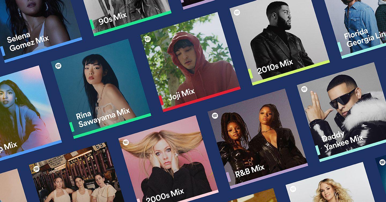 Spotify ra mắt Spotify Mixes mới: Danh sách phát được cá nhân hóa theo nghệ sĩ, theo thể loại và theo các bài hát yêu thích nhất thập niên
