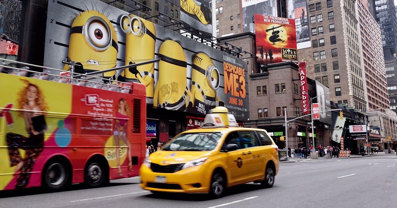 Despicable Me 3 'náo loạn' đường phố NewYork với chiến dịch quảng cáo taxi sáng tạo