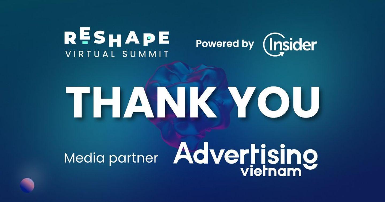 Advertising Vietnam đồng hành cùng Insider tại RESHAPE 2021