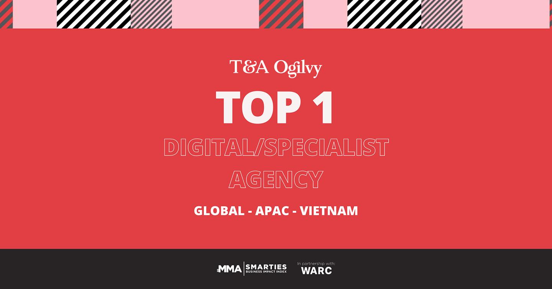 T&A Ogilvy đứng đầu Hạng mục Digital & Specialist Agencies tại Việt Nam, châu Á - Thái Bình Dương và toàn cầu theo bảng xếp hạng SMARTIES Business Impact Index 2020