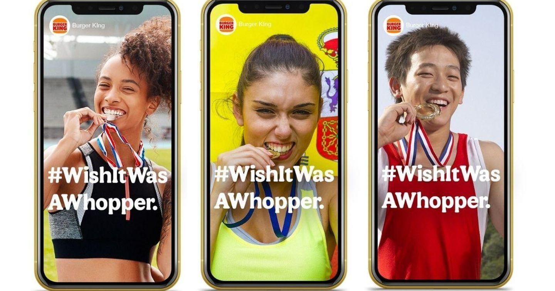 """Burger King lý giải tại sao vận động viên lại cắn """"huy chương"""" trong quảng cáo mới"""