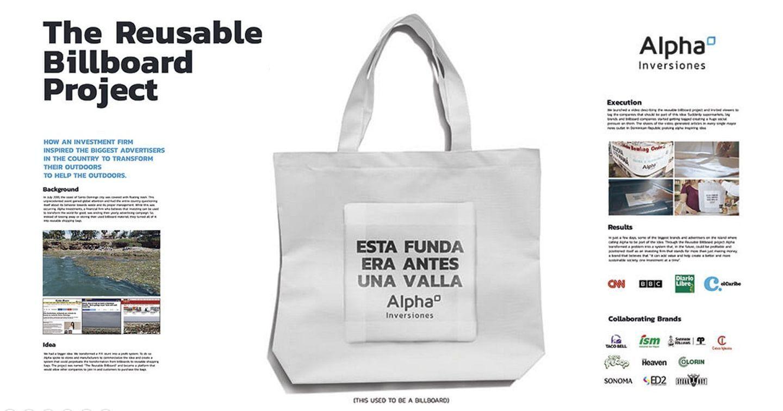 Tái chế biển quảng cáo ngoài trời thành 1.000 chiếc túi tái sử dụng