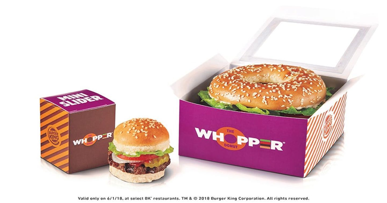 """Chiếc """"Whopper Donuts"""" đầu tiên của Burger King ra đời"""