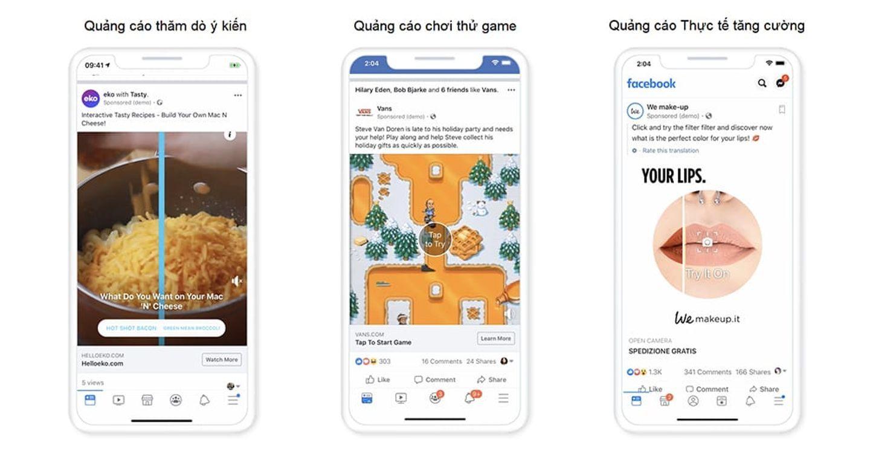 Facebook giới thiệu giải pháp quảng cáo mới khuyến khích những trải nghiệm vui nhộn
