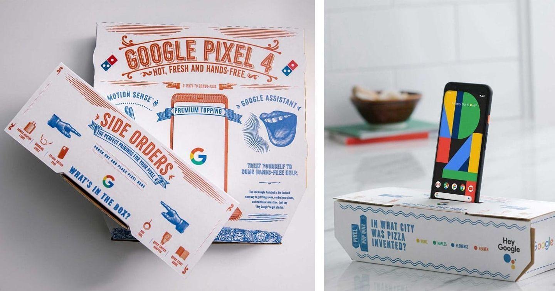 """Google bắt tay với Pizza Domino trong chiến dịch """"đập hộp"""" Pixel 4"""