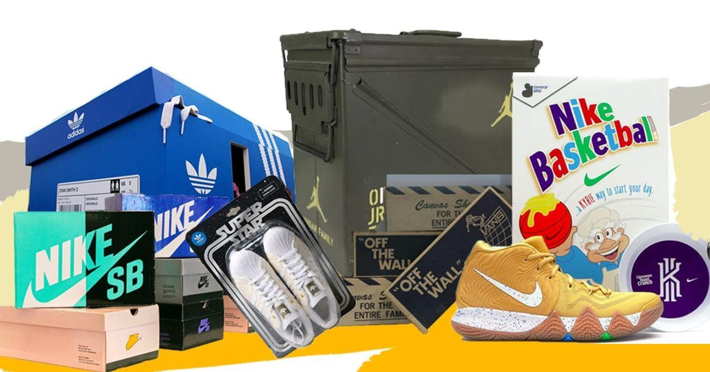 PR thương hiệu bằng thiết kế hộp giày sneaker siêu chất