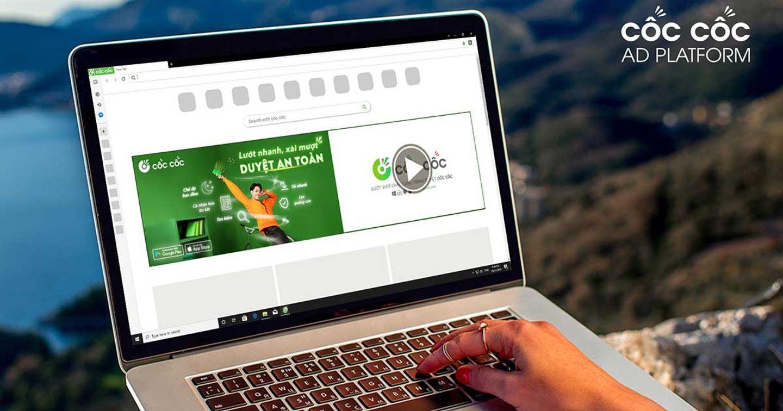 Hình thức quảng cáo Magnetic Masthead của Cốc Cốc Ad Platform đã được tích hợp video