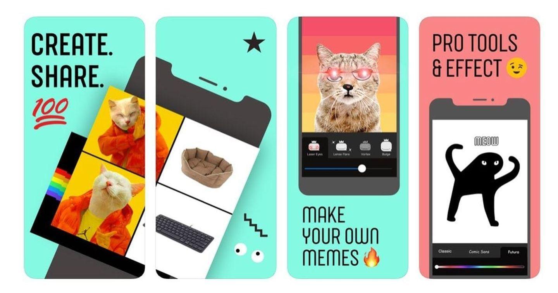 """Facebook """"chiều lòng"""" giới trẻ với ứng dụng thiết kế meme"""
