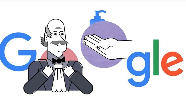 Google Doodle Rửa tay diệt khuẩn mùa dịch COVID-19 và câu chuyện về 'nhân vật bí ẩn'