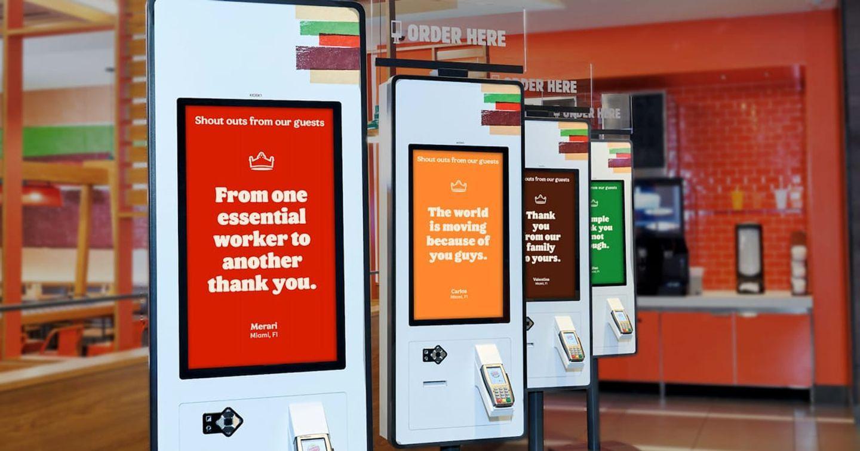 Burger King kêu gọi khách hàng gửi lời cảm ơn đến nhân viên của mình
