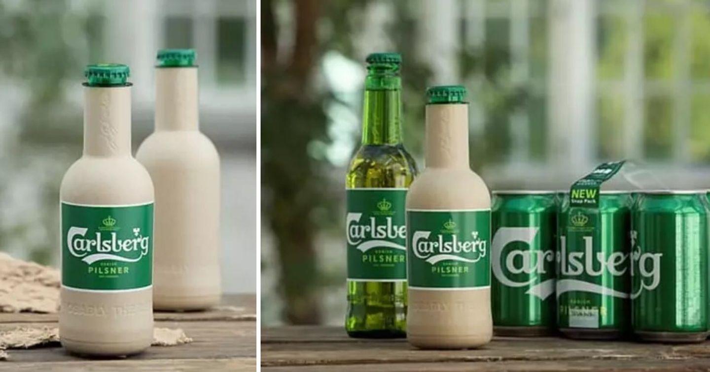 Carlsberg và Coca-Cola sử dụng vỏ chai tự phân hủy từ nguyên liệu thực vật