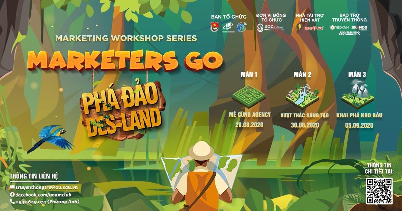 """[TCBC] Cơ hội cho Marketer bước chân vào vùng đất thiết kế tại workshop """"Marketers Go - Phá Đảo Des-Land"""""""