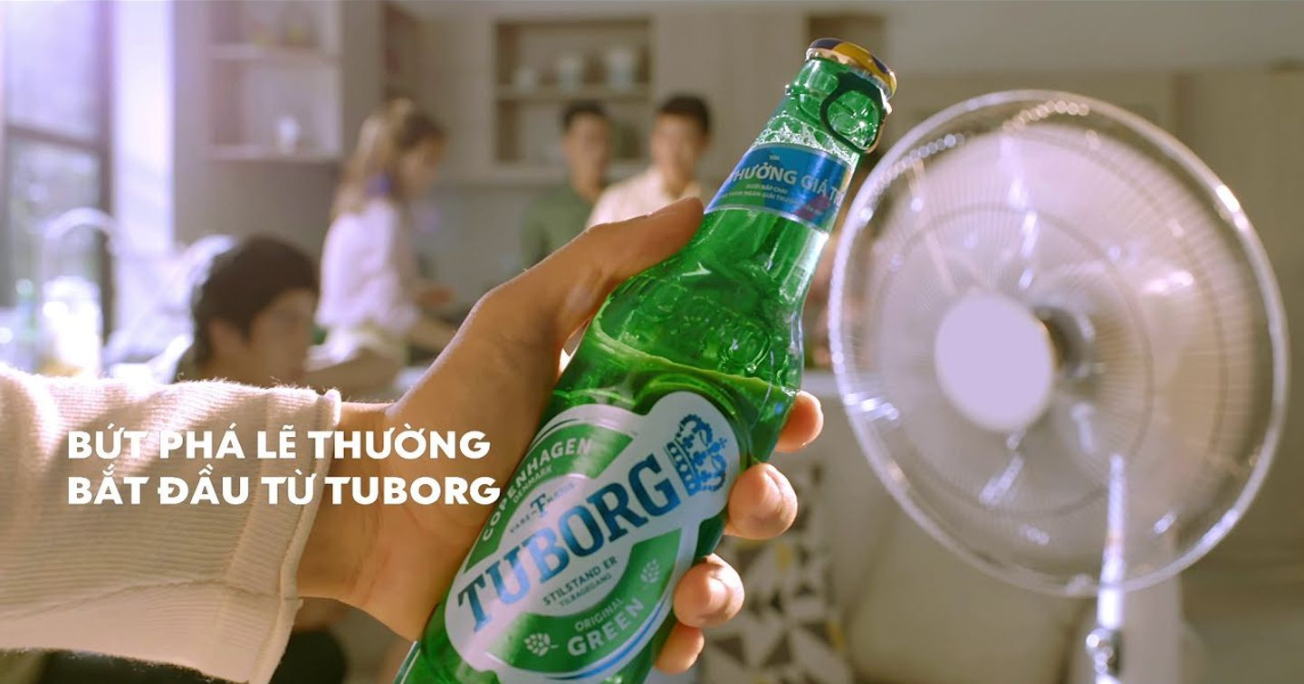 Escaping the ordinary starts  with a Tuborg
