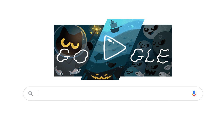 Google Doodles biến giao diện Google thành trò chơi mùa Halloween